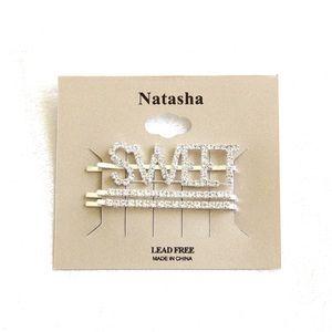 "Natasha Accessories - ""SWEET"" & ""SO EXTRA"" Rhinestone Hair Pins"
